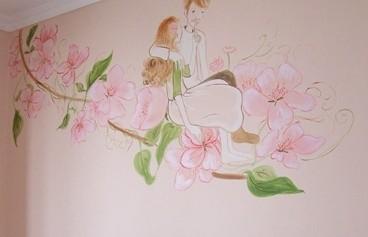 飞天艺术手绘墙